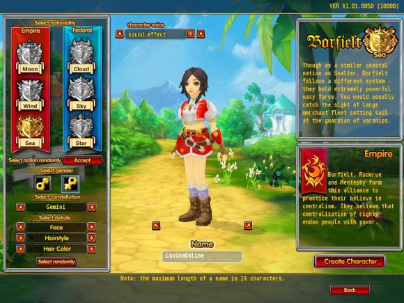 luvinia online character creation