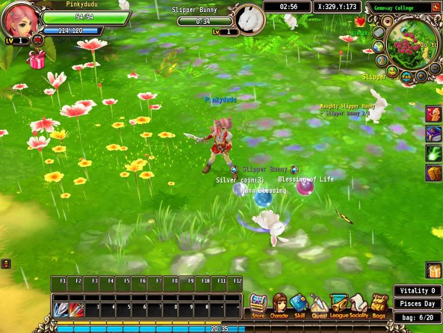 luvinia online first quest